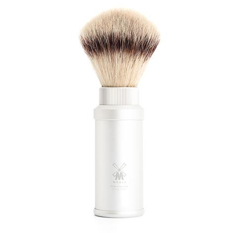 Muhle Travel Shaving Brush, Aluminum Silver