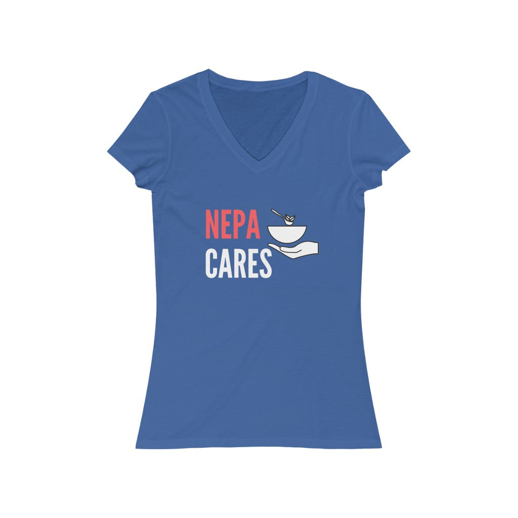 NEPA CARES Women's Jersey Short Sleeve V-Neck Tee