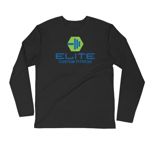 Elite Custom Fitness Long Sleeve Fitted Crew