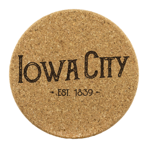 Hometown Iowa City 4 Pack Cork Coasters