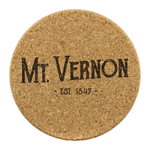 Hometown Mt Vernon 4 Pack Cork Coasters