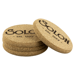 Hometown Solon 4 Pack Cork Coasters