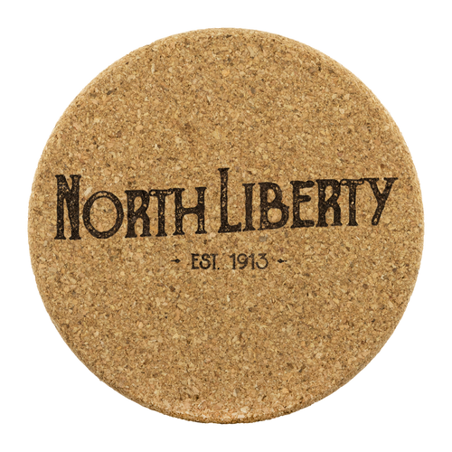Hometown North Liberty 4 Pack Cork Coasters