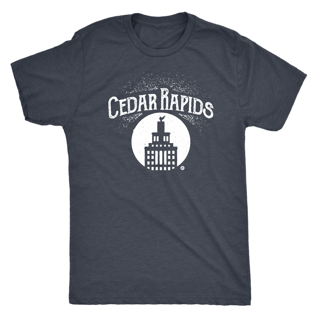 Hometown Cedar Rapids Short Sleeve Tri-Blend Men's T Shirt