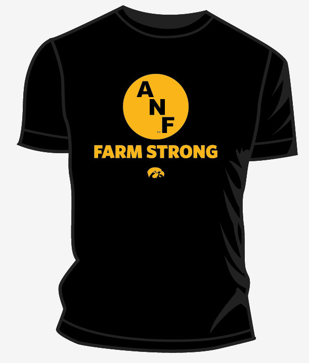 Iowa Hawkeye Clothing ANF Farm Strong T Shirt