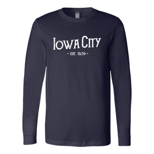 Hometown Iowa City Long Sleeve Unisex Tee (5 Colors)