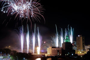 The Gazette Cedar Rapids Postcards Fireworks 4th of July