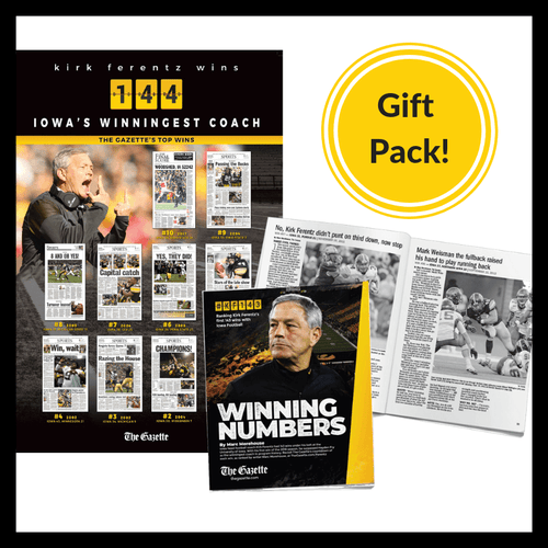 Kirk Ferentz Winning Numbers Booklet and Poster from The Gazette