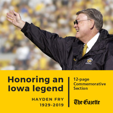 Hayden Fry Commemorative Copy Section