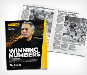Iowa Hawkeye Gifts to your favorite Hawkeye Fan with this poster and Winning Numbers Booklet