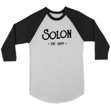 Hometown Solon 3/4 Unisex Raglan Tee (3 Colors)
