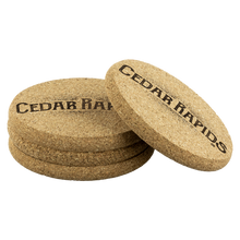 Hometown Cedar Rapids 4 Pack Cork Coasters