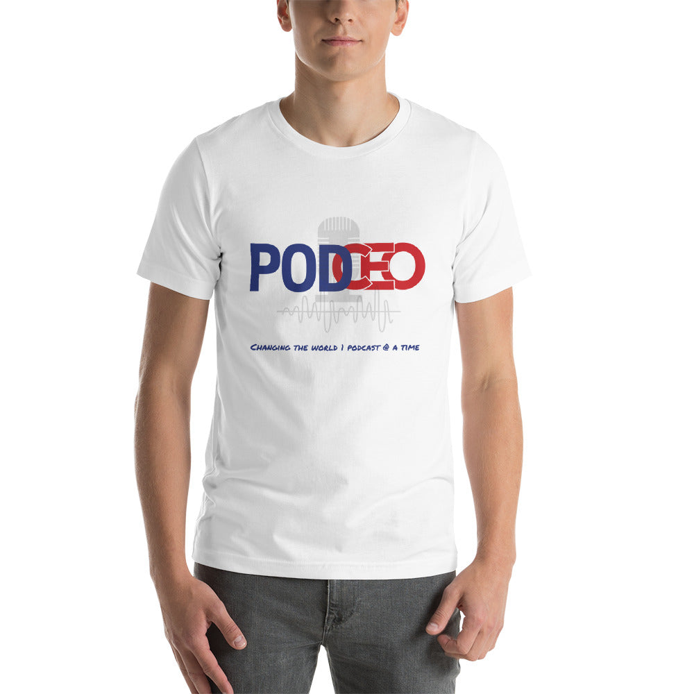 PODCEO - Podcasting Short-Sleeve Unisex T-Shirt