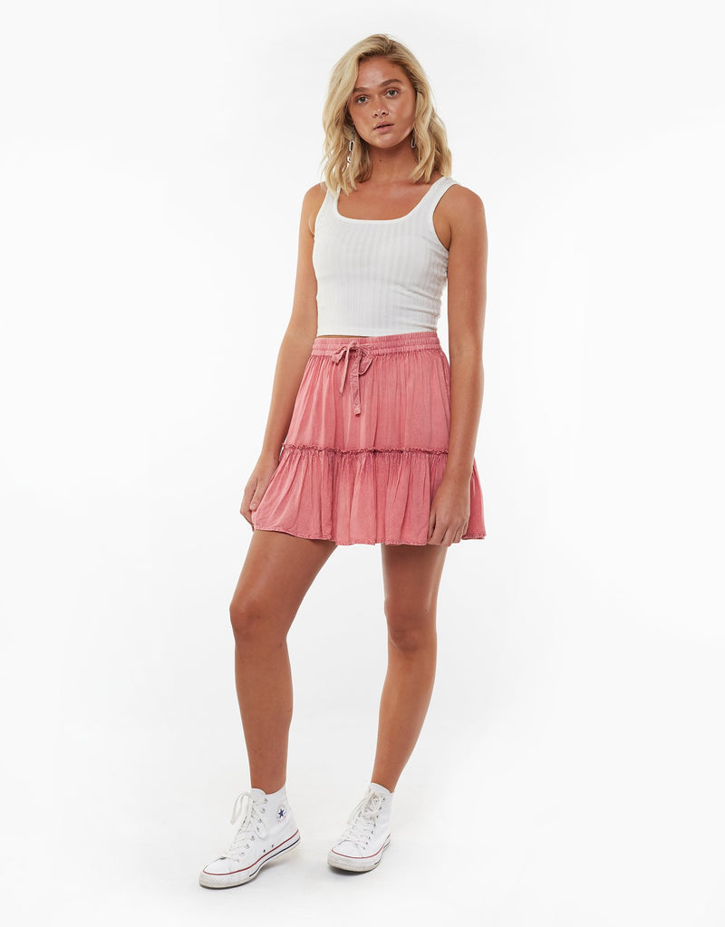 Supple Washed Skirt