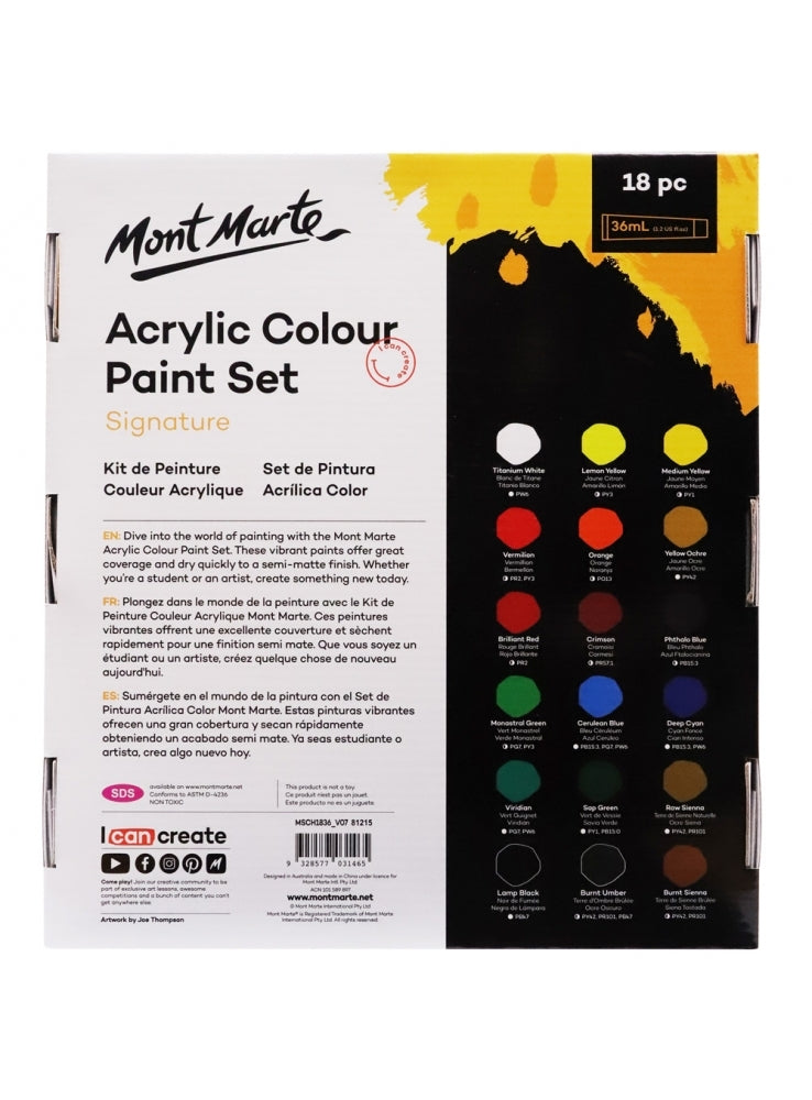 MM Acrylic Paint Set 24 pc