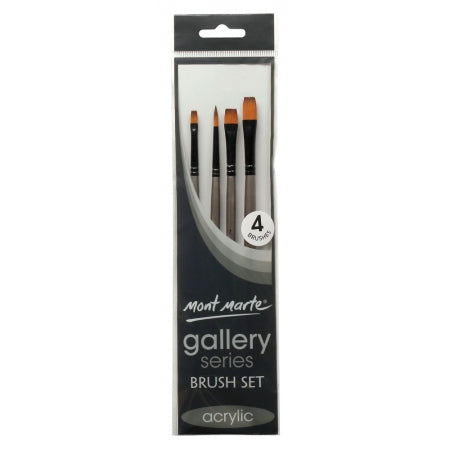 MM Gallery Series Brush Set Acrylic 4pc