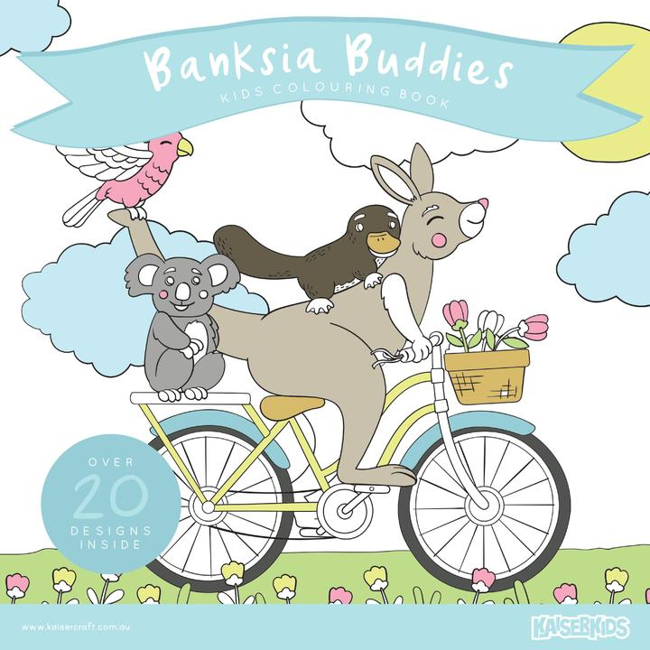 Kids Colouring Book - Banksia Buddies