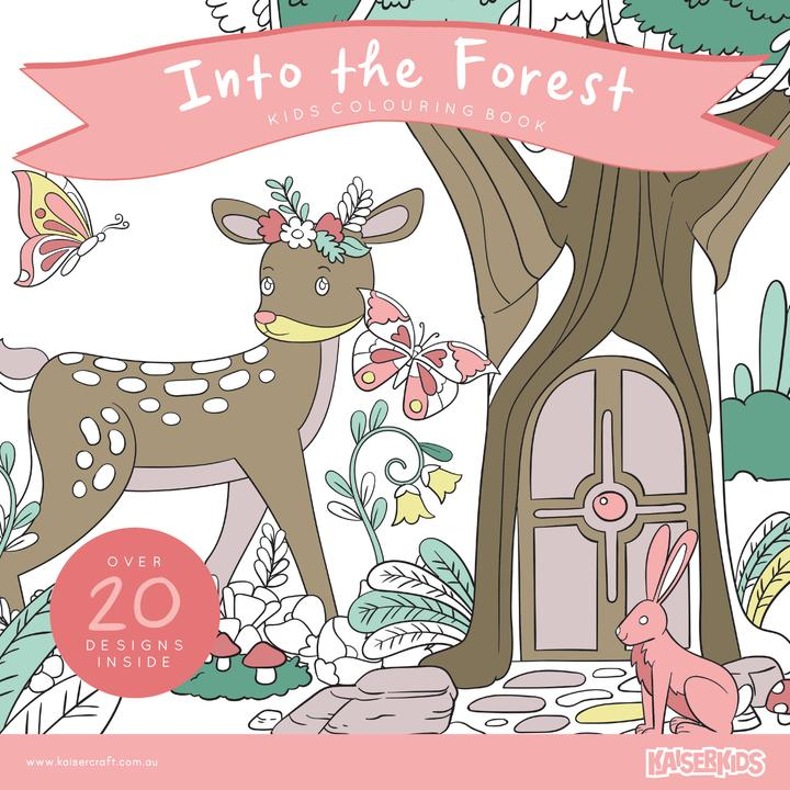 Kids Colouring Book - In The Forest