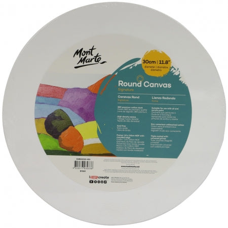 MM Signature Round Canvas 30cm