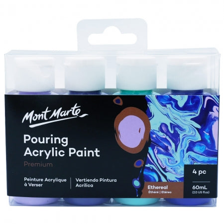 MM Premium Pouring Acrylic Paint 60ml  4pc Set - Ethereal