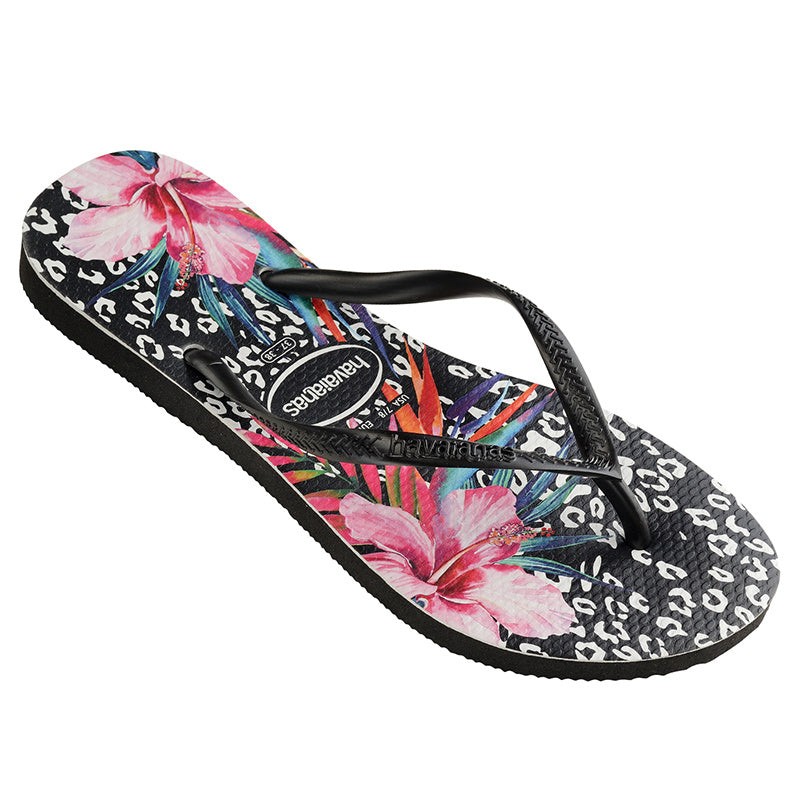 Kids Slim Thongs - Animal Floral