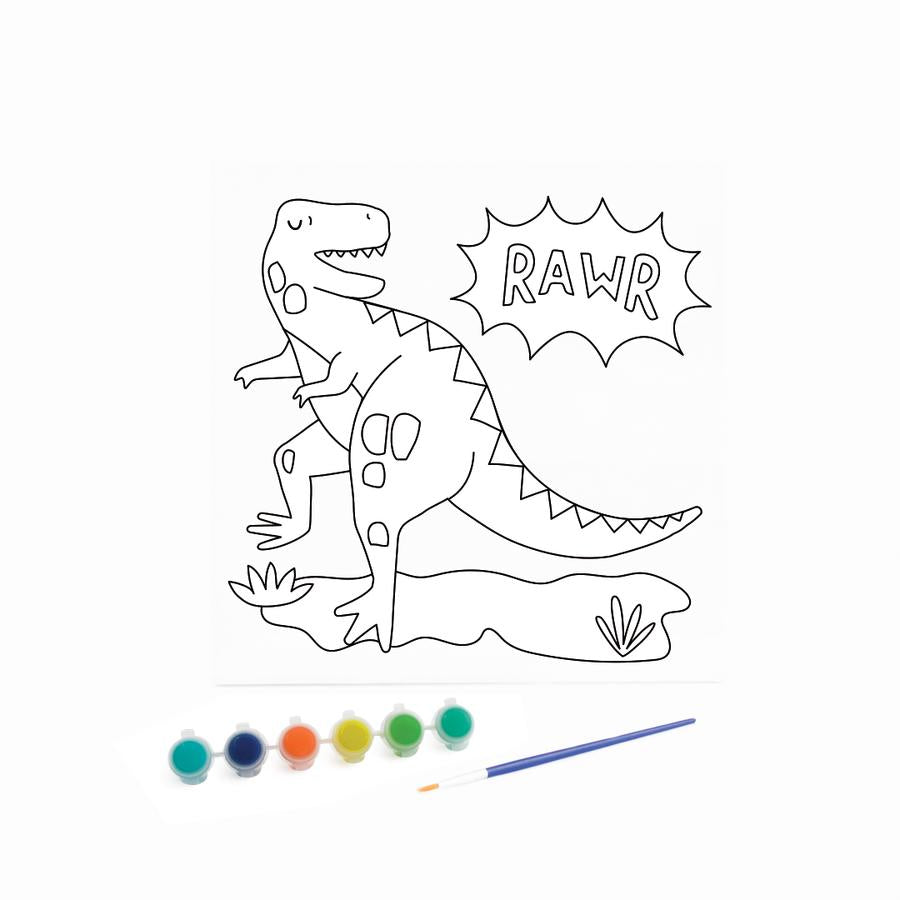 Kids Canvas with Paints - Dinosaur