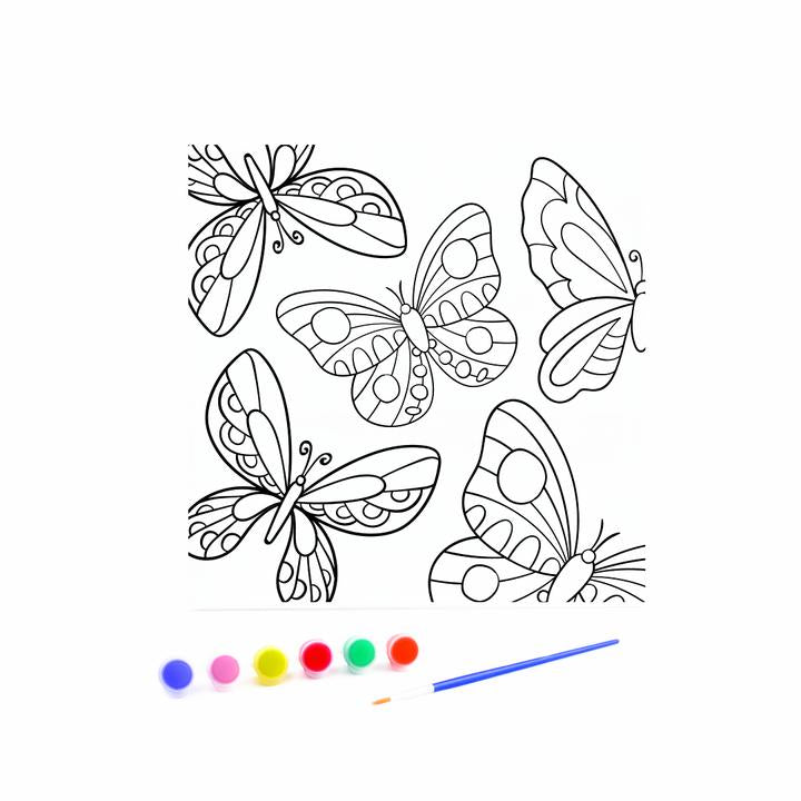 Kids Canvas with Paints - Flutter