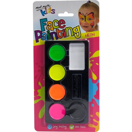 MM Kids Face Paint Crayons - Neon