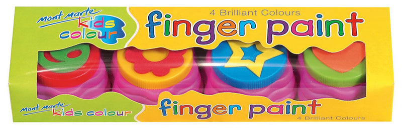 MM Kids Colour Finger Paints 4pce with stamp