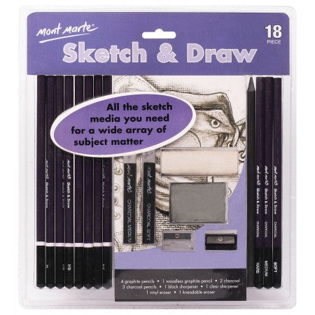 MM Sketch & Draw Set 18 pc