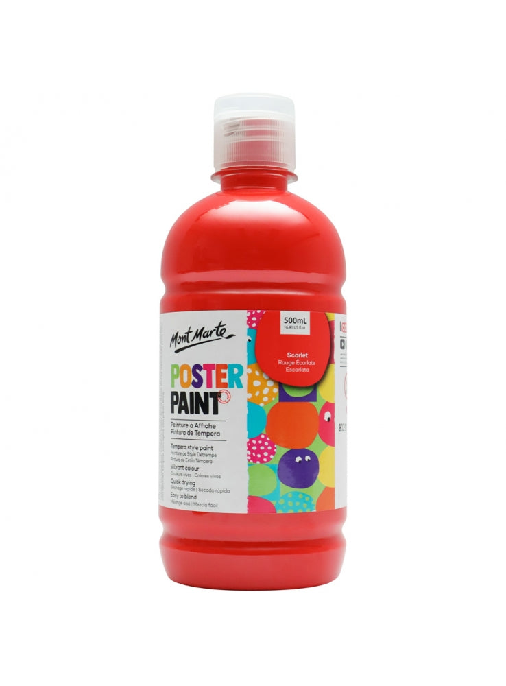 MM Poster Paint 500ml - Scarlet