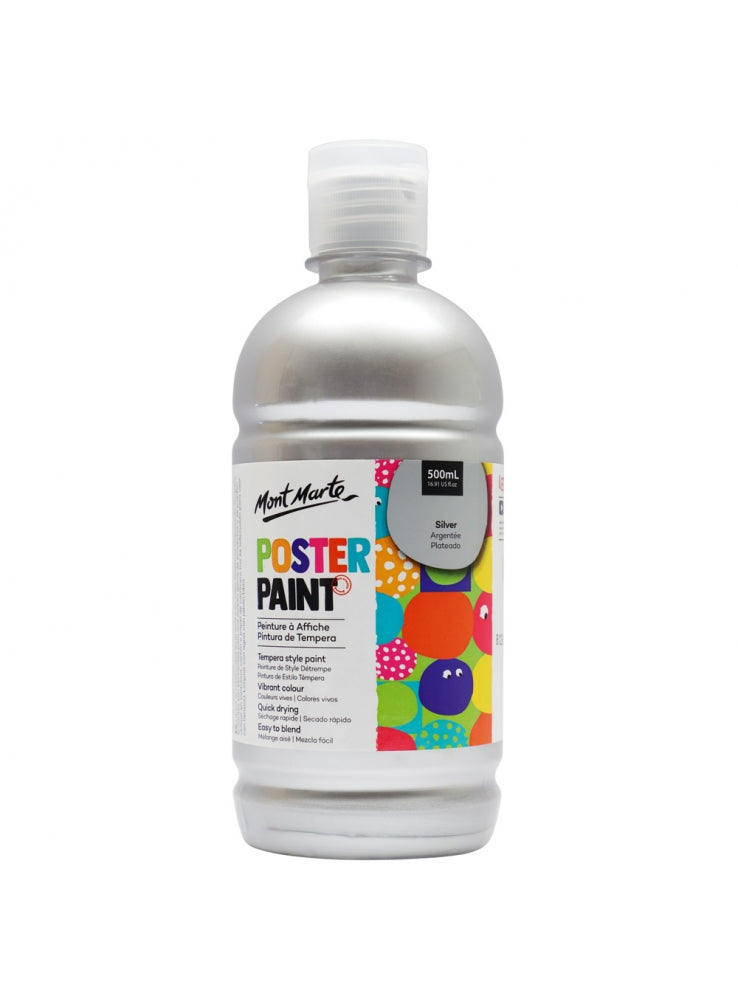 MM Poster Paint 500ml - Silver