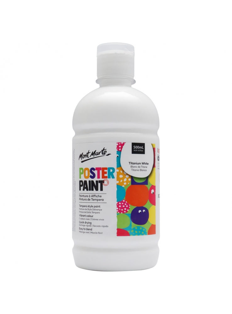 MM Poster Paint 500ml - Titanium White