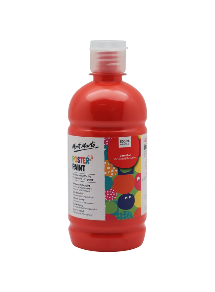 MM Poster Paint 500ml - Vermillion