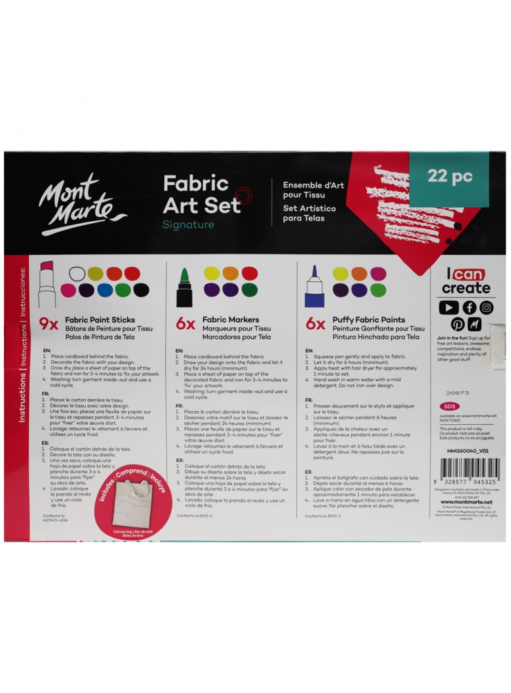 Fabric Art Set 22pc