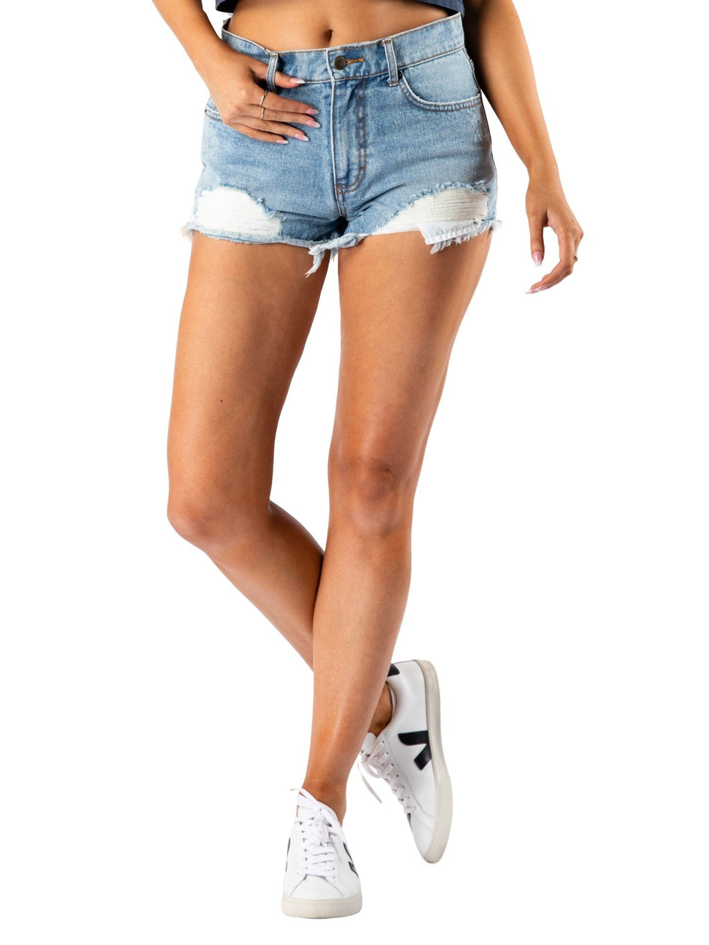 Cutoff Trashed Denim Short