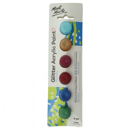 MM Glitter Paints 6pc x 3.6ml