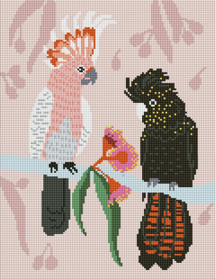 Sparkle Kits 30 x 40cm - Galah + Cockatoo