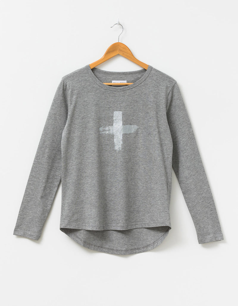PRE ORDER: Silver Crosses Long Sleeve Tee