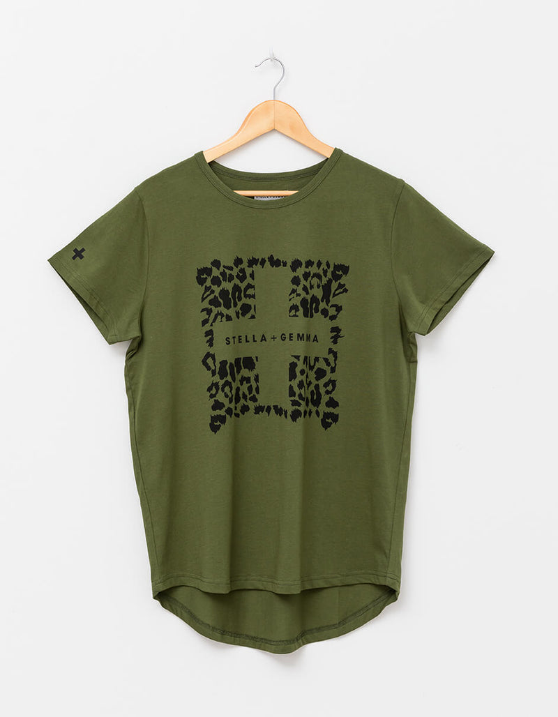 Leopard Square Tee