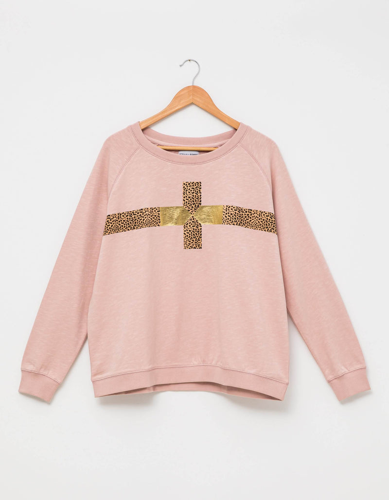 Rose Cheetah Sweater