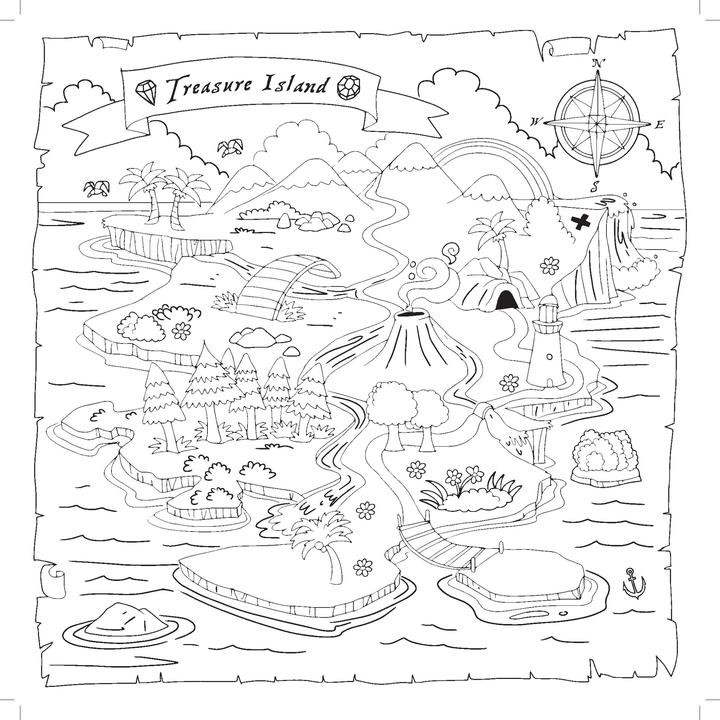 Colouring Book - Treasure Island