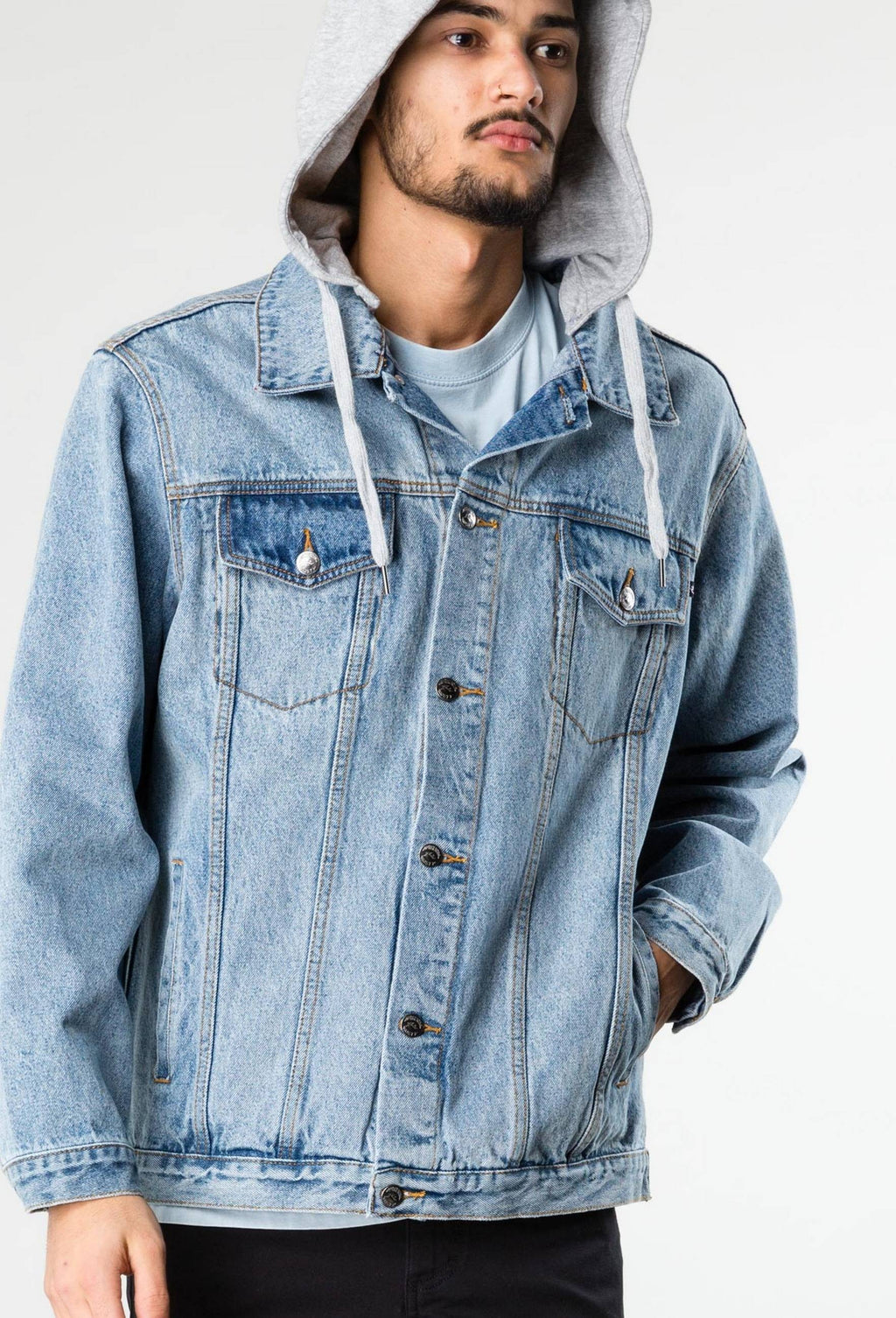 Throne Hooded Trucker Denim Jacket