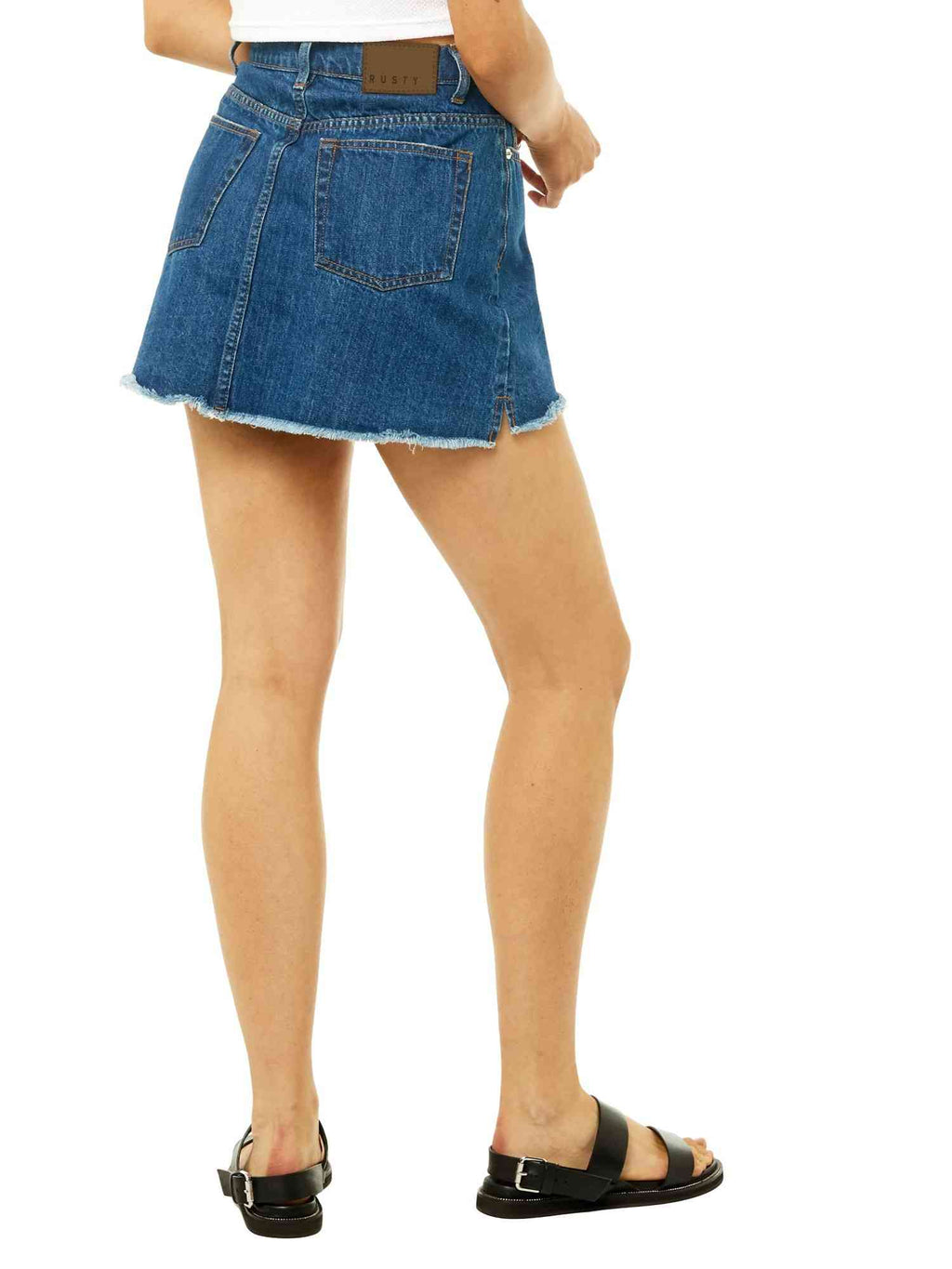 Celeste High Rise Denim Skirt