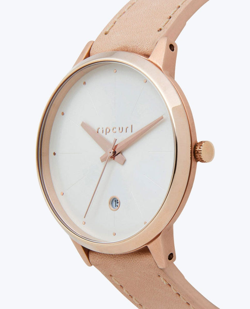 Lola Slim Rose Gold Leather Watch