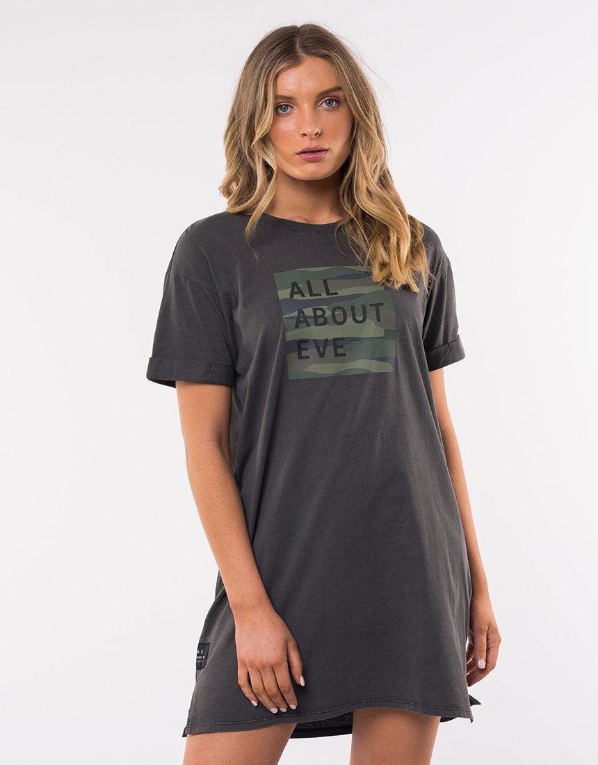Stamped Camo Tee Dress
