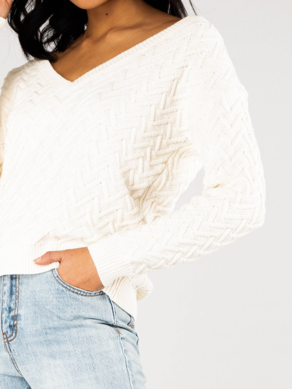Ziggy Vee Neck Reversible Knit