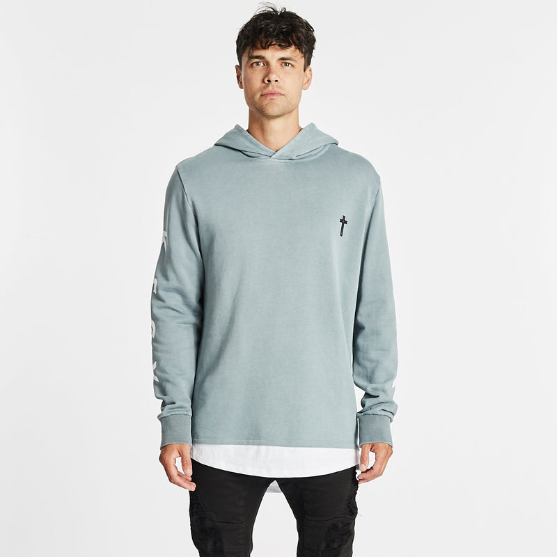 Exchange Cape Back Layered Hoodie