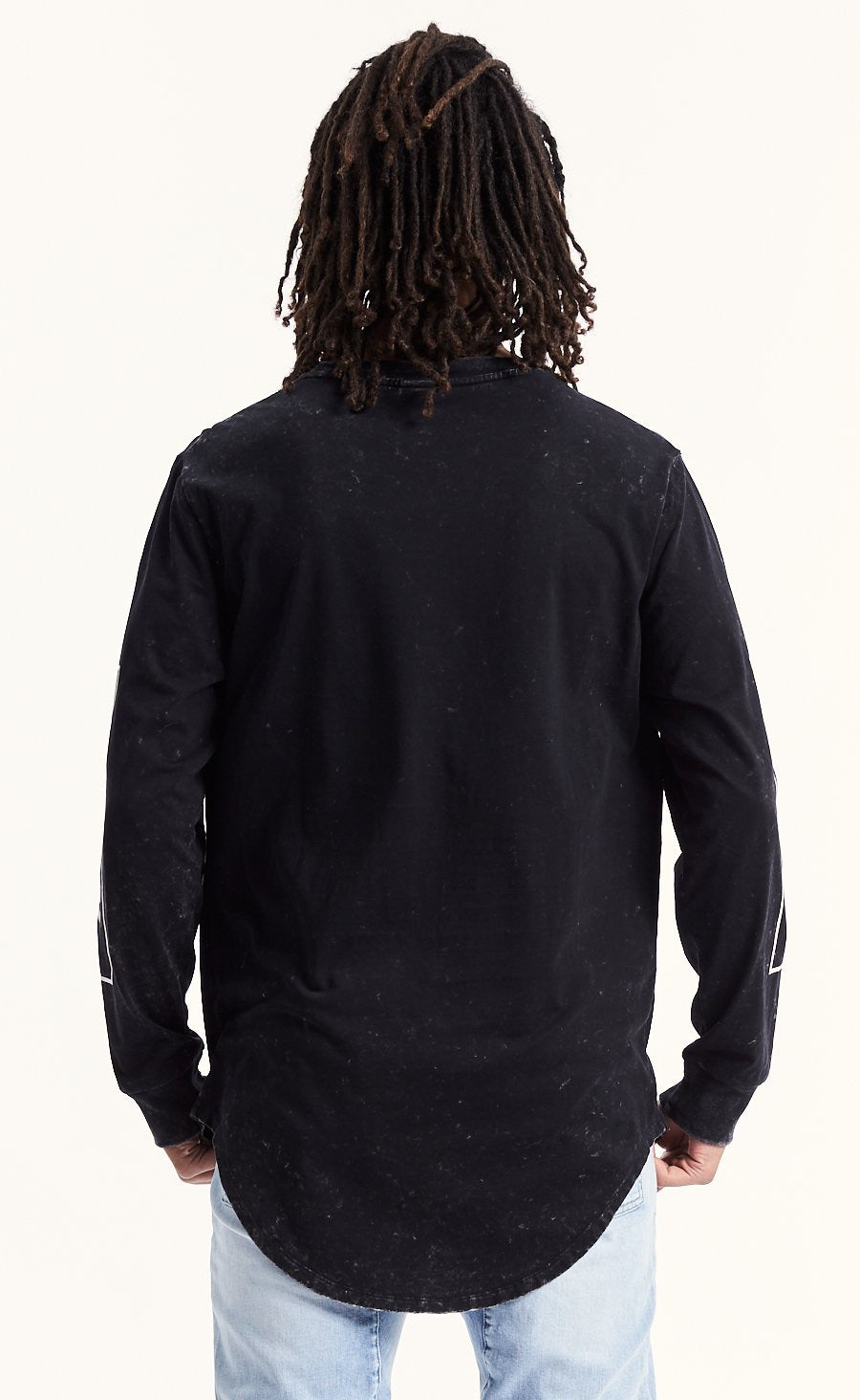 All In Long Sleeve Curved Hem Tee