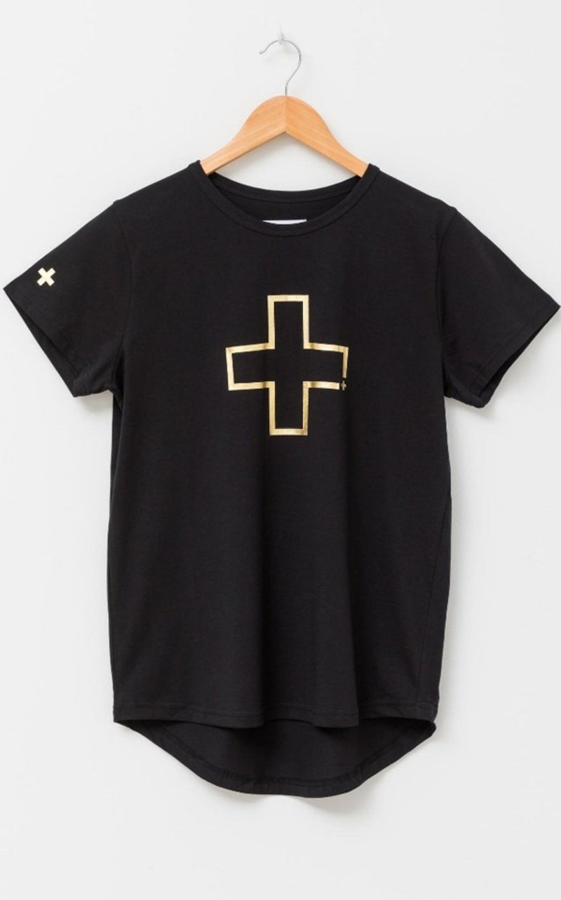 Gold Cross Tee